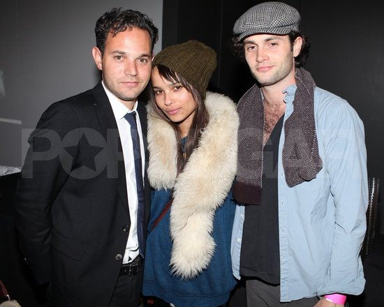 Zoe Kravitz and Penn Badgley Let Loose With PBR at an Art Party