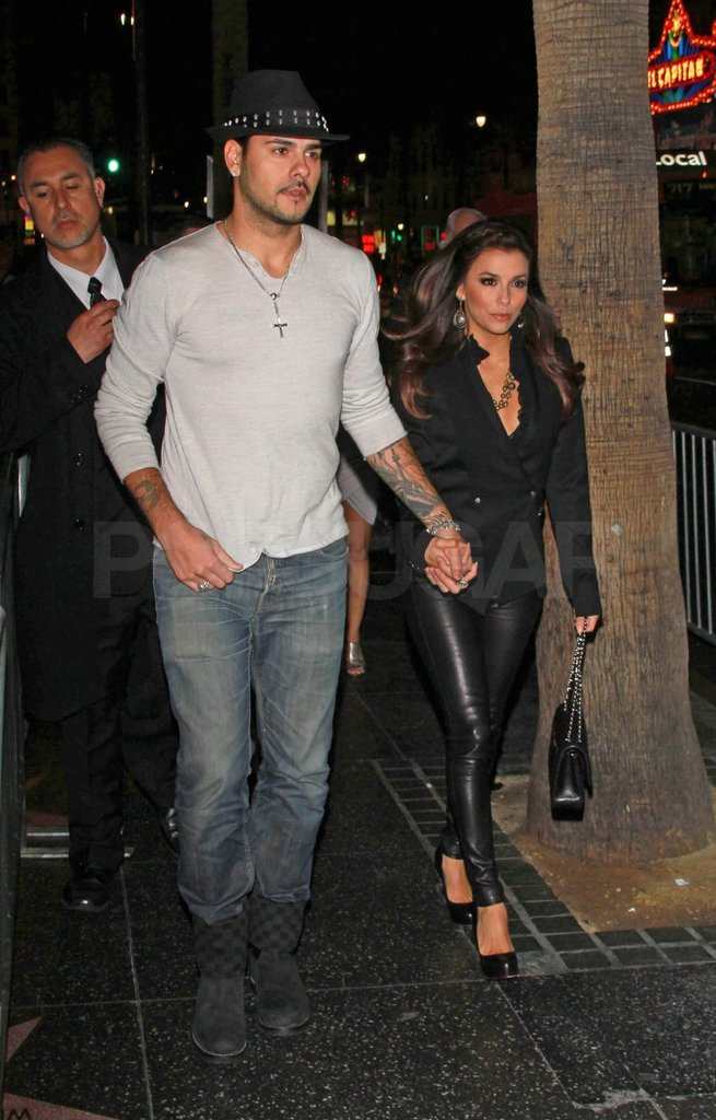 Eva and Eduardo left Grauman's Chinese Theater together.