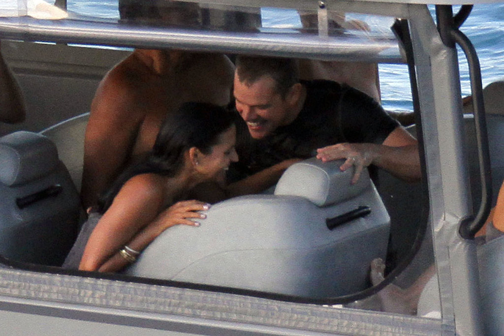 Matt Damon and Luciana Damon made each other laugh on vacation.