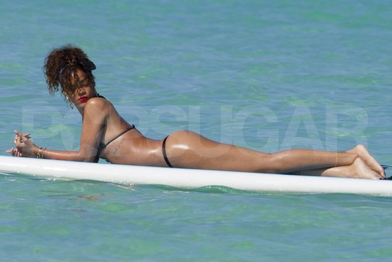 Rihanna Wears a Seriously Tiny String Bikini to Paddleboard