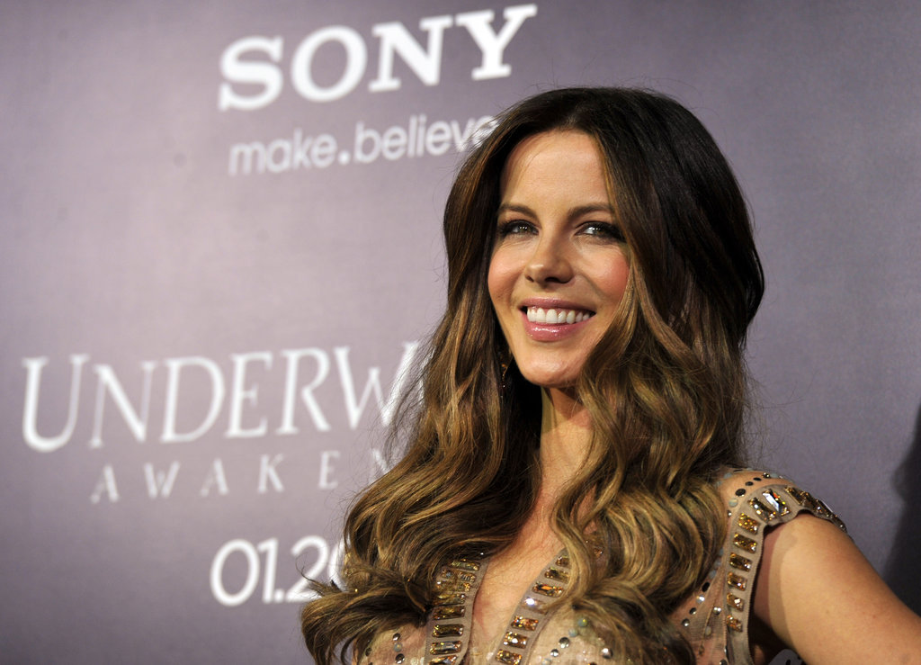 Kate Beckinsale was all smiles at the Underworld: Awakening premiere in LA.