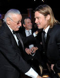 Stan Lee and Brad Pitt