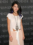 Selena chose a casual bohemian look for the concert.