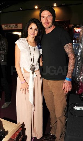Selena Gomez and David Beckham snapped a photo together.