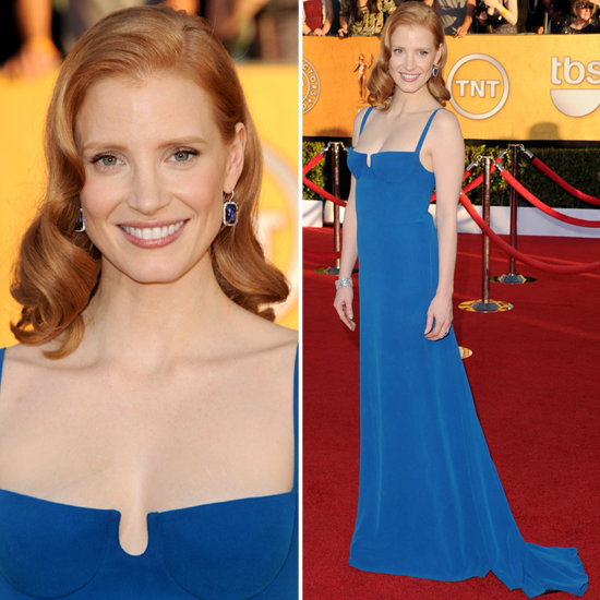 Jessica Chastain at the SAG Awards 2012