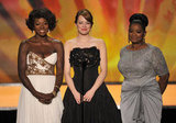 Viola Davis, Emma Stone, and Octavia Spencer