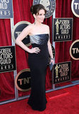 Tina Fey on the SAGs red carpet.
