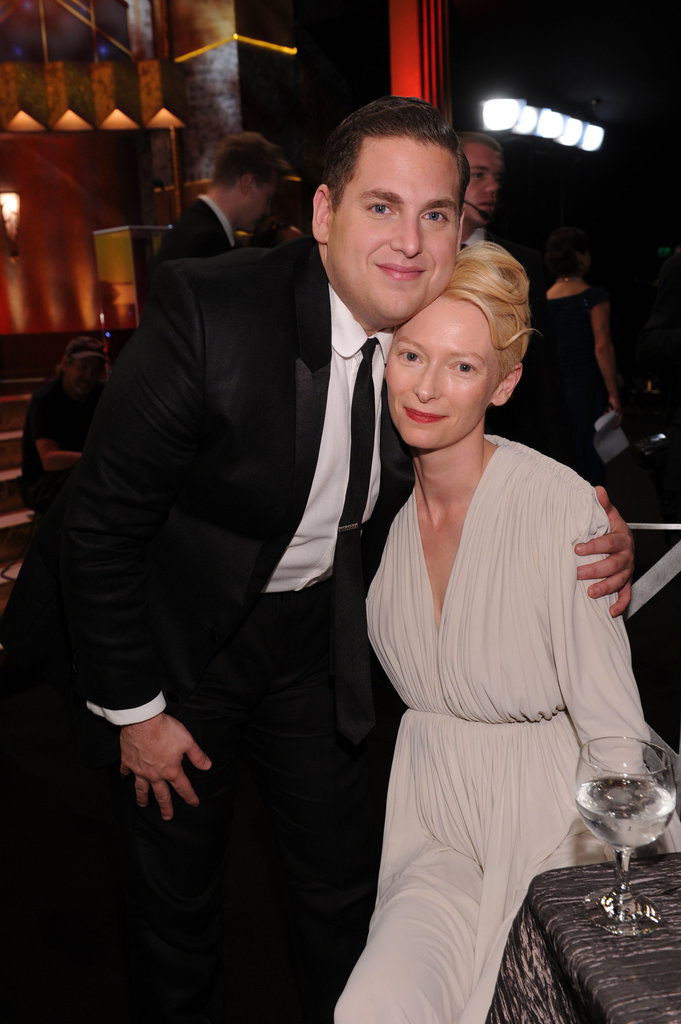 Jonah Hill and Tilda Swinton at the SAGs.