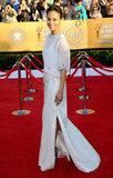 Zoe Saldana Dons White Givenchy For the SAGs Red Carpet