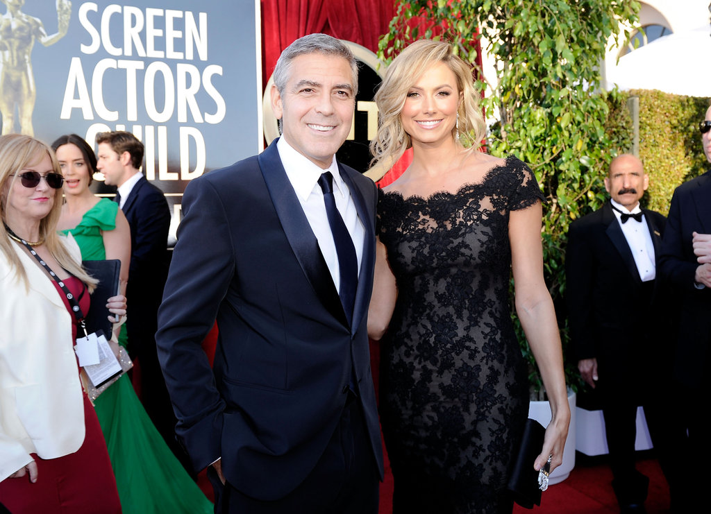 George Clooney and a Marchesa-clad Stacy Keibler at the SAG Awards.