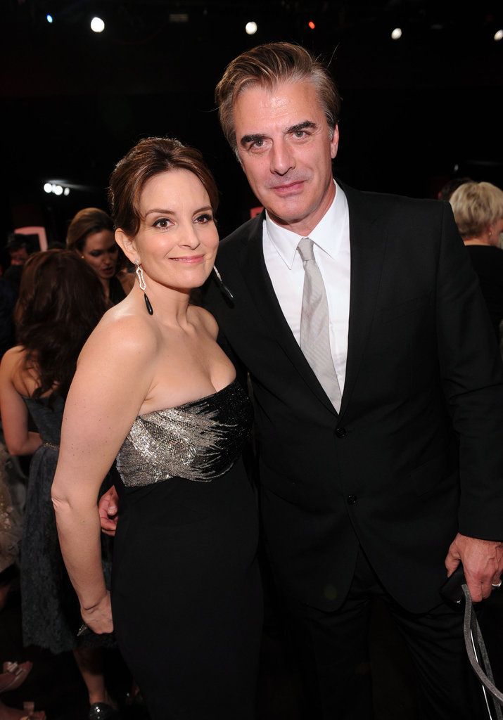 Tina Fey and Chris Noth at the SAGs.