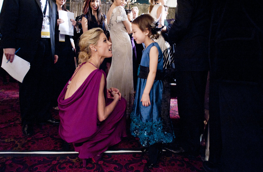 Julie Bowen chatted with her young costar.