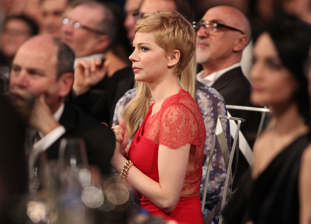Michelle Williams stood out in red.