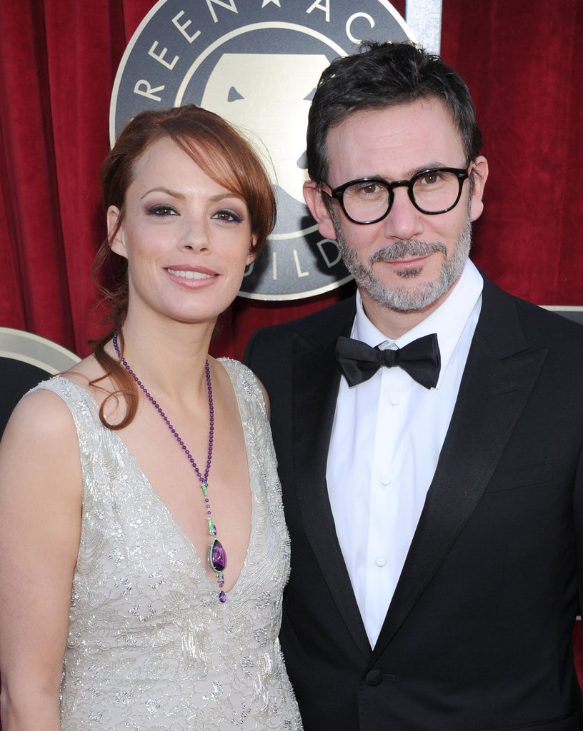 The Artist's Michel Hazanavicius and Berenice Bejo make their way in.