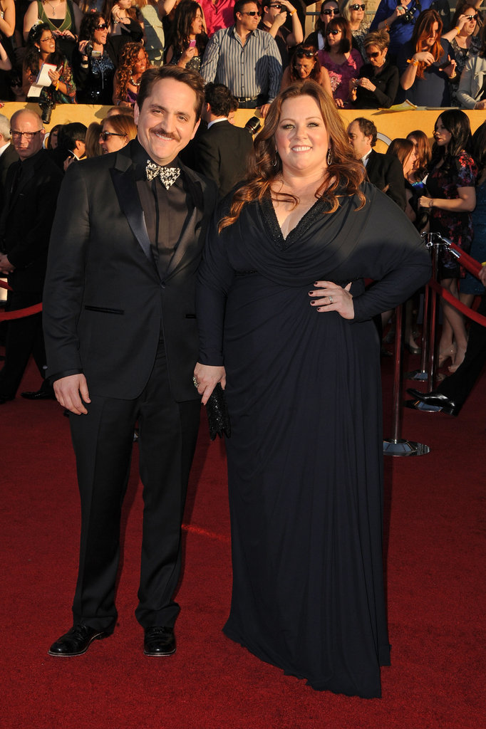Melissa McCarthy and her hubby Ben Falcone strike a pose.