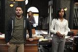Guillermo Diaz, Darby Stanchfield, and Kerry Washington in Scandal.