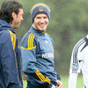 David Beckham at Soccer Practice Pictures in LA