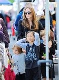 Shiloh Jolie-Pitt, Knox Jolie-Pitt, and Pax Jolie-Pitt went shopping with Angelina Jolie.