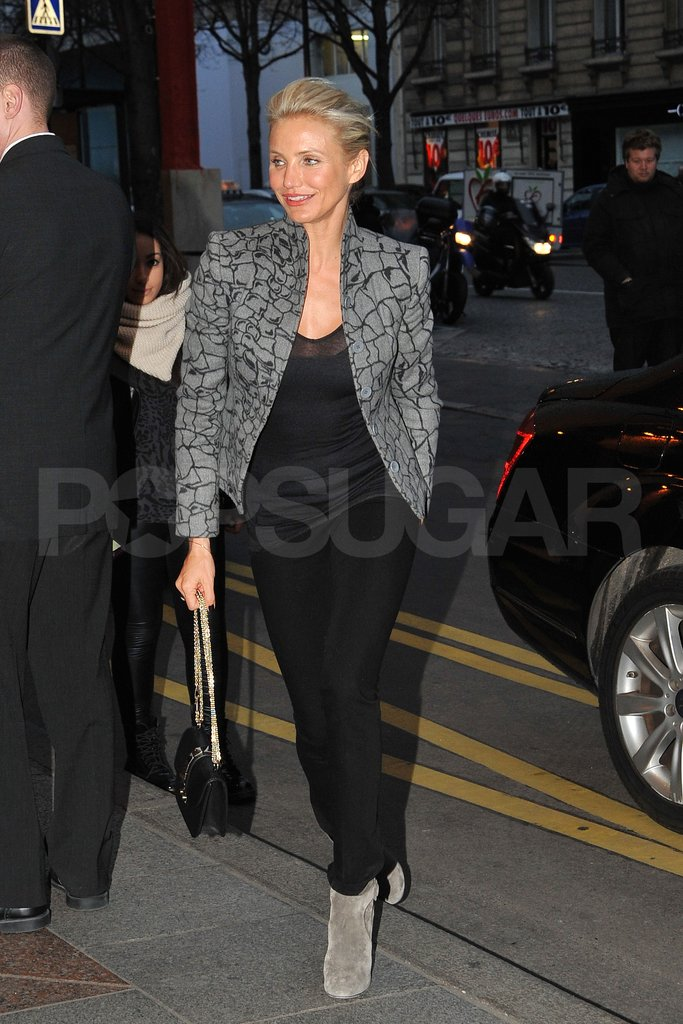 Cameron Diaz headed home after the Dior show.