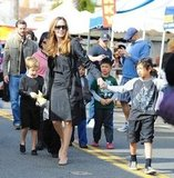 Shiloh and Pax Jolie-Pitt followed Angelina Jolie's lead.
