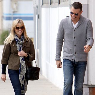 Reese Witherspoon and Jim Toth Laughing in LA Pictures