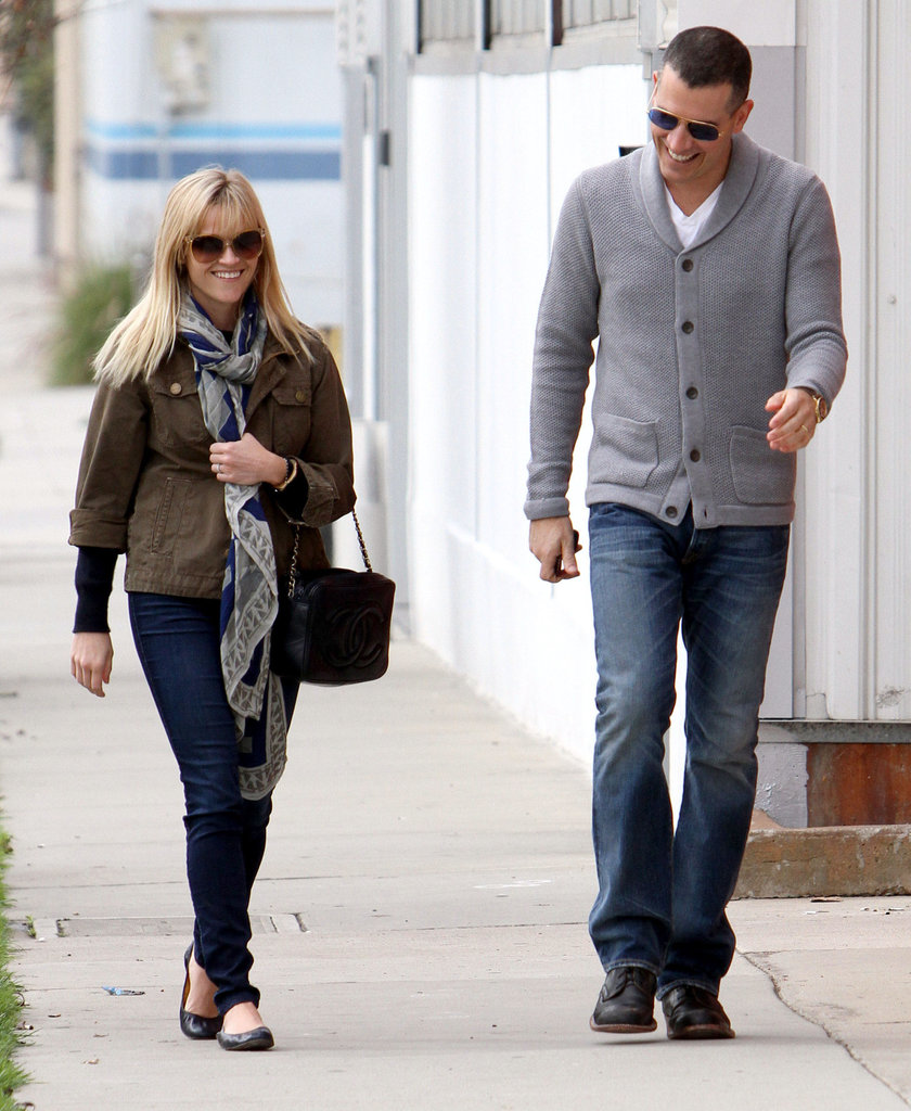 Reese Witherspoon and Jim Toth couldn't stop laughing.
