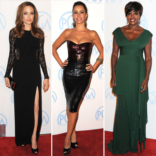 Angelina Jolie, Sofia Vergara, and More Glam It Up For the Producers Guild Awards