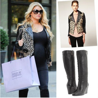 Get the Look: Jessica Simpson Animal Print Maternity Style