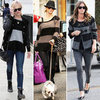 Trendy Grey and Black Sweaters on Nicky Hilton and Fearne Cotton