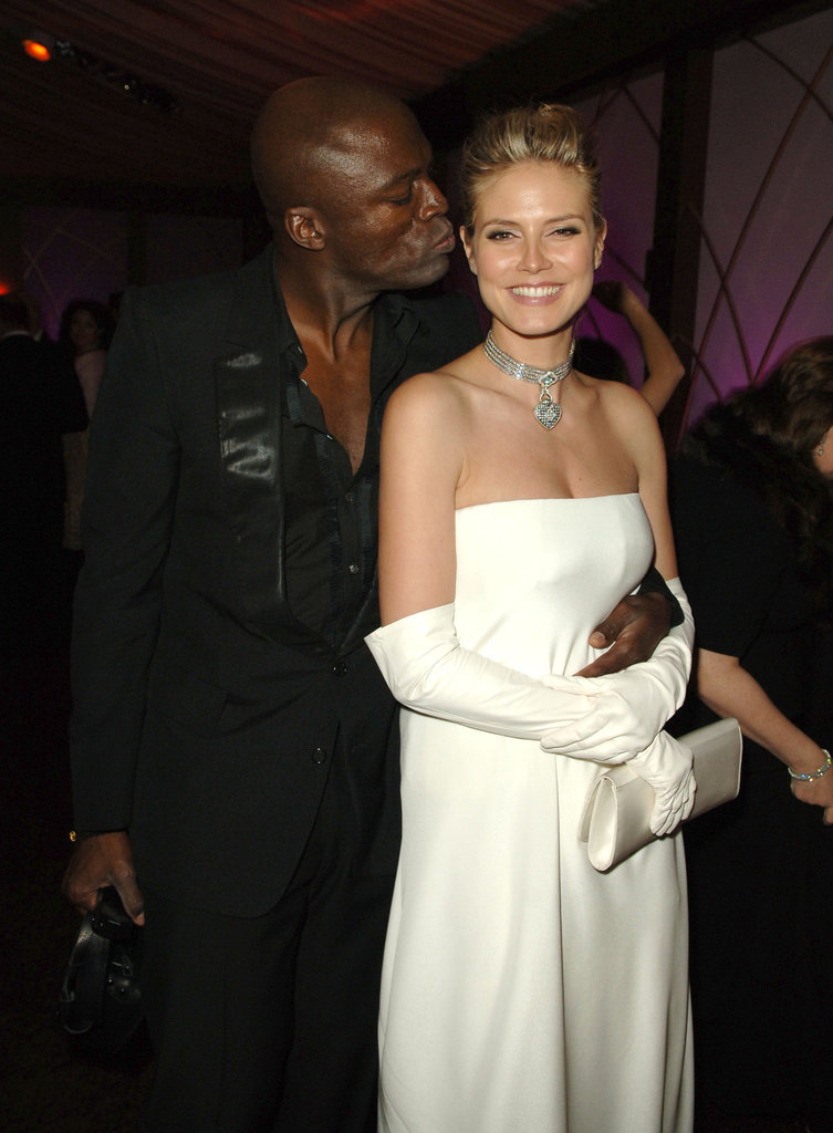 Seal kisses Heidi at a 2007 Golden Globes afterparty.