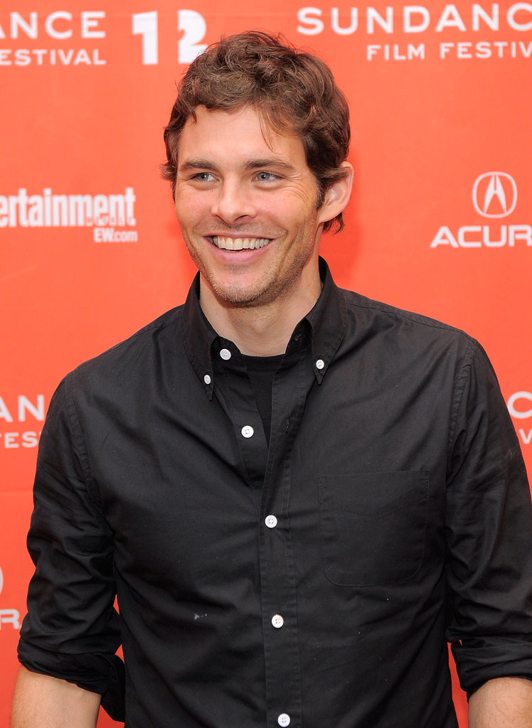 James Marsden wore a black button-up shirt in Park City, UT.