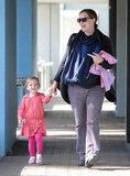 Pregnant Jennifer Garner with Seraphina in LA.