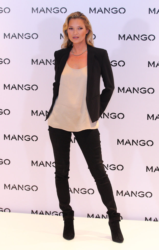 Kate Moss posed for Mango.