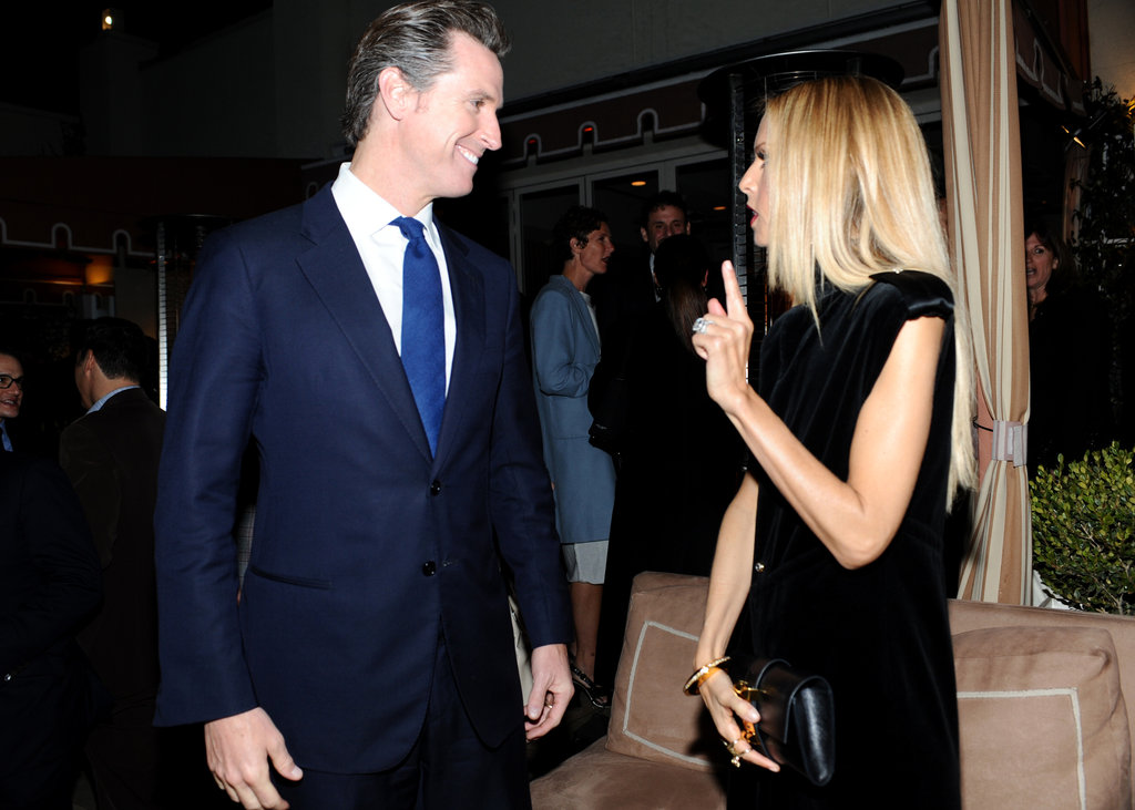 Rachel Zoe said hello to Gavin Newsom.