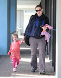 Seraphina Affleck cuddled close to Jennifer Garner during a January day in LA.