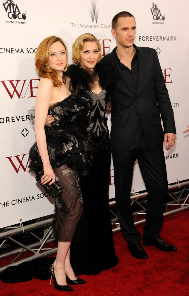 Madonna was joined by  James D'Arcy and Andrea Riseborough to premiere W.E..