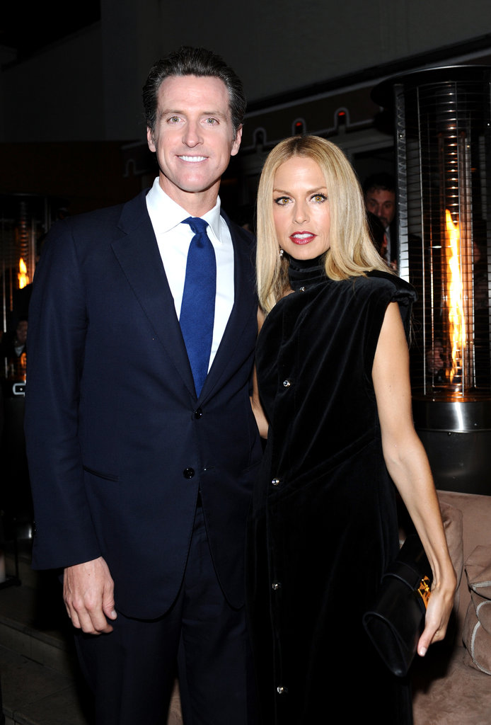 Rachel Zoe posed with Gavin Newsom.
