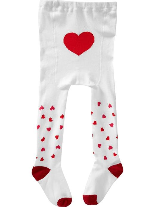 Old Navy Heart-Print Baby Tights ($7.50)