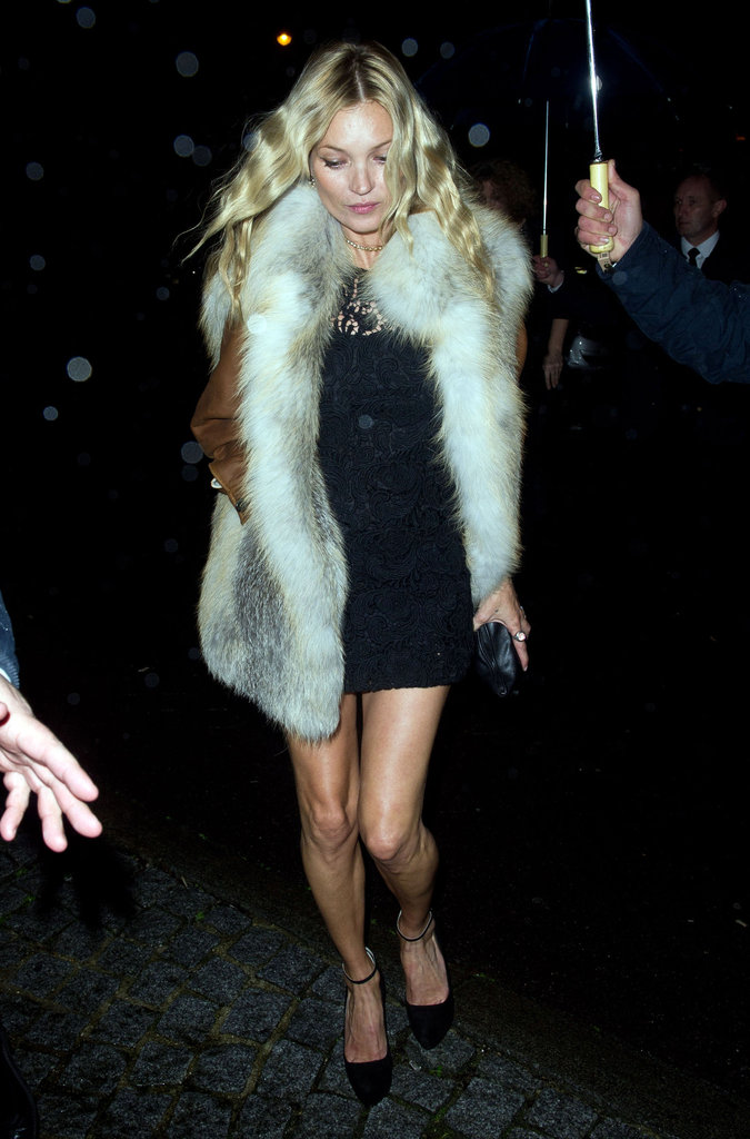 In January 2012, Kate Moss went to Paris for a Couture Fashion Week bash.