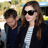 Anne Hathaway and Adam Shulman Leaving LA Pictures