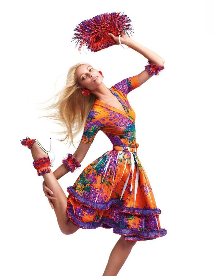 Major flower power and bright brights for Blumarine Spring '12. Source: Fashion Gone Rogue