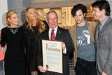 Kelly Rutherford, Blake Lively, New York City Mayor Michael R. Bloomberg, Penn Badgley, and Matthew Settle toasted Gossip Girl.