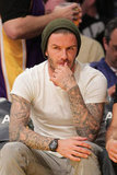 David Beckham pondered the Lakers game.