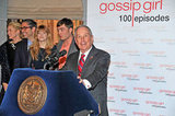 Michael Bloomberg celebrated Gossip Girl at a party in NYC.