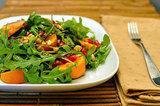 Arugula Salad With Persimmons and Pomegranate Seeds