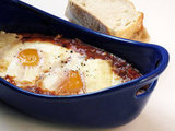 Cinnamon-Spiced Baked Eggs in Tomato Sauce