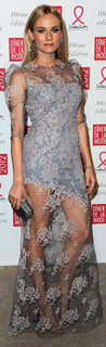Diane Kruger Sheer Lace Maxi Dress