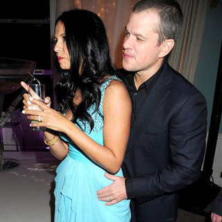 Matt and Luciana Damon at Party in London Pictures