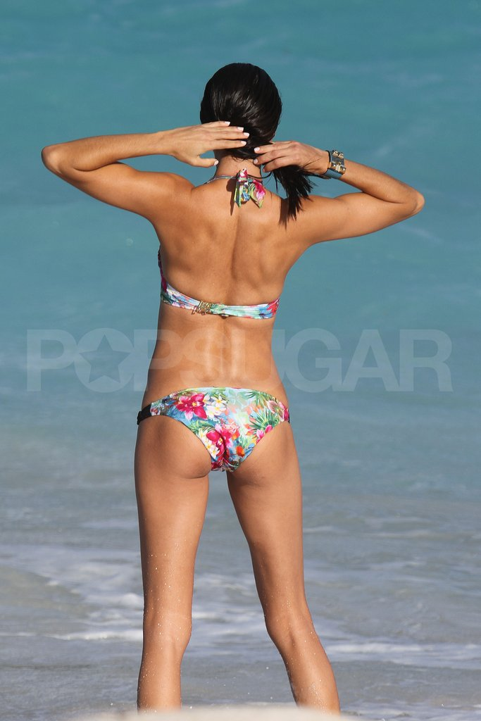 Adriana Lima looked amazing in her bikini.