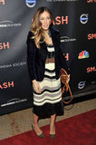 Sarah Jessica Parker attended the premiere of Smash.